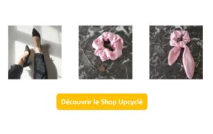 bannière shop upcylé